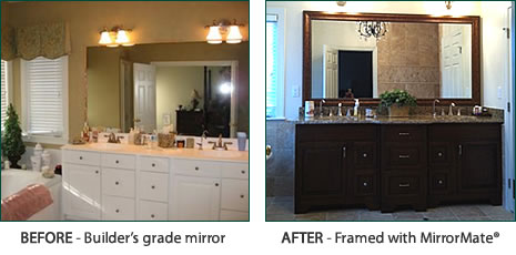 Before & After Mirror Mate transformation!